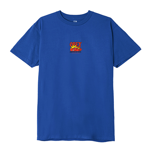[오베이]OBEY - HERE WE GO AGAIN T-SHIRT S/S (ROYAL BLUE) 반팔티 티셔츠