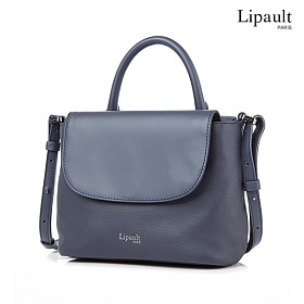 리뽀 LIPAULT 토트백 PLUME ELEGANCE  MINI HANDLE BAG  NAVY P6232028