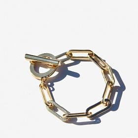 [러쉬오프] [RUSHOFF]Gold Bold Chain Bracelet/골드볼드체인 팔찌
