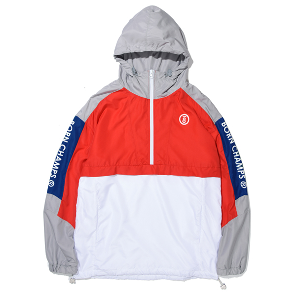 [본챔스]BC LINE COLOR ANORAK RED CERAMJK02RE 아노락 자켓