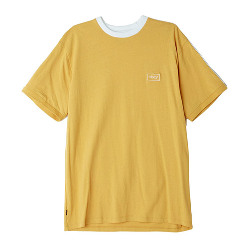 ※[오베이]OBEY - BORSTAL BOX TEE (YELLOW) 사이드라인 반팔티 티셔츠
