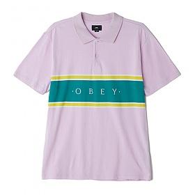 ※[오베이]OBEY - PALISADE POLO (PINK) 블록 폴로티 PK티 카라티