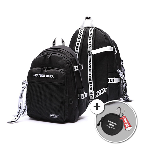 [유니온오브제]3D MESH BACKPACK M03 (WHITE BLACK) 백팩 가방