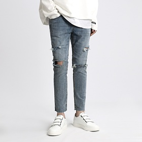 [쟈니웨스트] JHONNYWEST - Claw Washed Jeans 워싱진 데님팬츠 긴바지