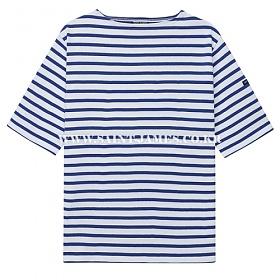 [세인트제임스]SAINT JAMES - 코리아 단독컬러 / 본사 남여공용 GUILDO R MC (Neige/Gitane) 웨쌍 길도 스트라이프 반팔 티셔츠