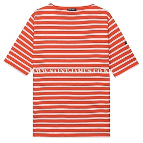 [세인트제임스]SAINT JAMES - 코리아 단독컬러 / 본사 남여공용 GUILDO R MC (Bouee/Neige) 웨쌍 길도 스트라이프 반팔 티셔츠