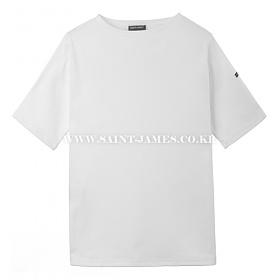 [세인트제임스]SAINT JAMES - 본사 남여공용 GUILDO U MC (Neige) 웨쌍 길도 무지 반팔 티셔츠