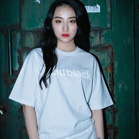 [에시드블랙] ACIDBLACK - REFLECTION LOGO TEE (WHITE) 반팔 반팔티 티셔츠