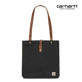 [칼하트WIP] CARHARTT WIP - Gob Tote (Black / Brown) 토트백 숄더백 가방