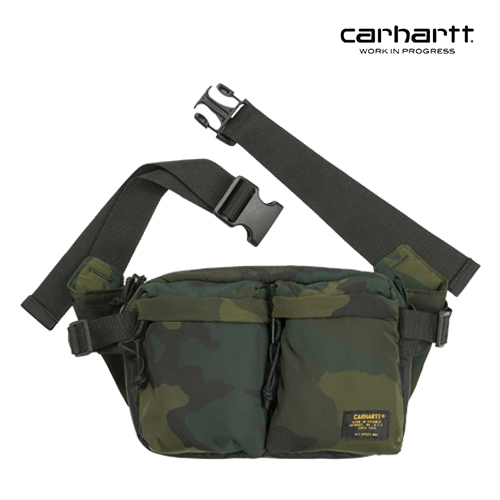 [칼하트WIP] CARHARTT WIP - Military Hip Bag (Camo Combat Green / Black) 밀리터리 힙색 웨이스트백 가방