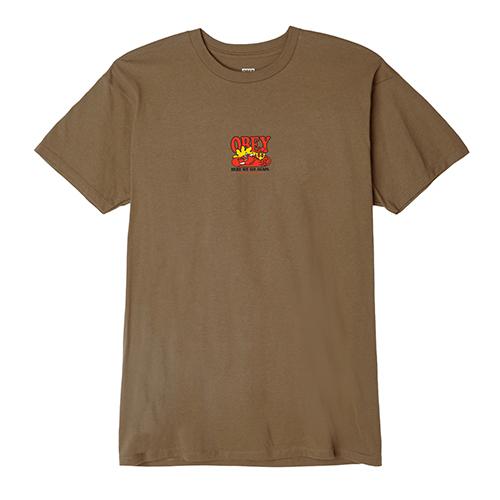 [오베이]OBEY - HERE WE GO AGAIN T-SHIRT S/S (TAPENADE) 반팔티 티셔츠