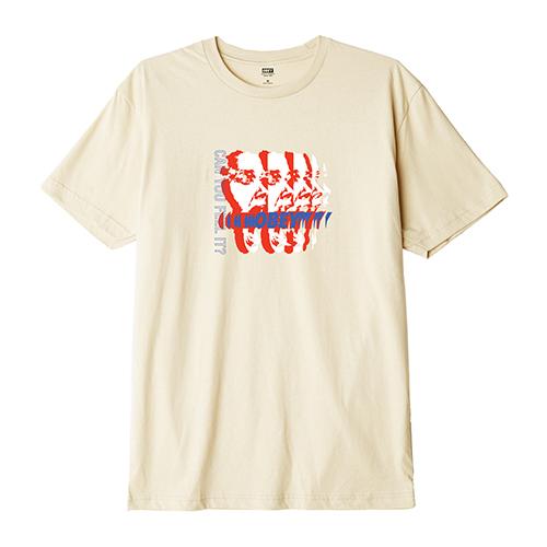 [오베이]OBEY - CAN YOU FEEL IT T-SHIRT S/S (CREAM) 반팔티 티셔츠