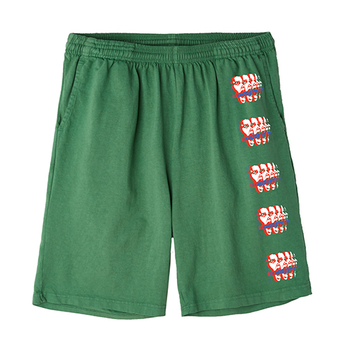 [오베이]OBEY - CAN YOU FEEL IT SHORTS SWEAT (VINTAGE GREEN) 반바지 스��팬츠 숏팬츠