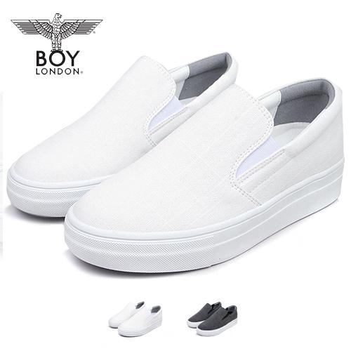 [보이런던]남성 데일리 깔끔한 슬립온(화이트)116-슬랩 남자 스니커즈 신발 단화 슈즈 코디 운동화