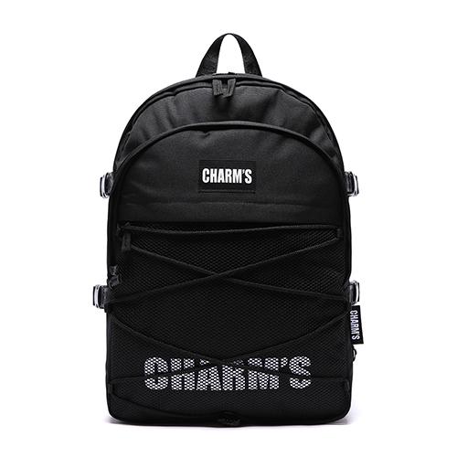 사은품 증정 [참스] CHARMS L3 Logo standard bag BLACK 로고 스탠다드 백팩 메쉬백팩 망사백팩 학생가방