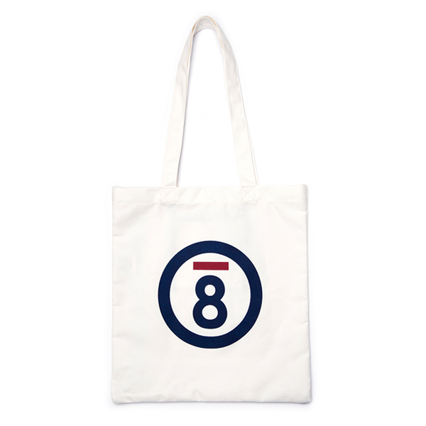 [본챔스]BC LOGO ECO BAG WHITE CERFMBG15WH 에코백