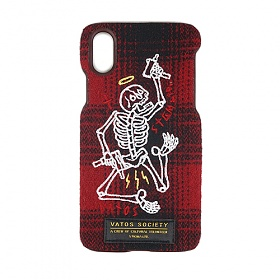 STIGMA - MASTERPIECE WOOL CHECK FABRIC CASE RED iPhone 8 / 8+ / X 아이폰 핸드폰케이스