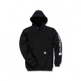 [칼하트 의류] 미드웨이트 로고 후드 블랙 / K288-001