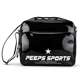 [핍스] PEEPS retro 80 enamel cross bag (black)