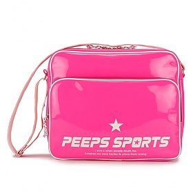 [핍스] PEEPS retro 80 enamel cross bag (pink)