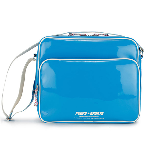 [핍스] PEEPS retro 90 enamel cross bag (blue)