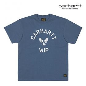 칼하트WIP C Airborne T-Shirt (Stone Blue / White)