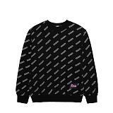 [참스]CHARMS LOGO PATTERN SWEATSHIRTS BK 맨투맨 크루넥 스��셔츠