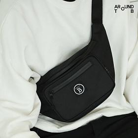[제옥스]GEOX - TRIP WAISTBAG BLACK 트립 웨이스트백 힙색 블랙