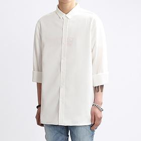 [쟈니웨스트] JHONNYWEST - Rollcut Linen Shirts (White) 린넨셔츠 남방