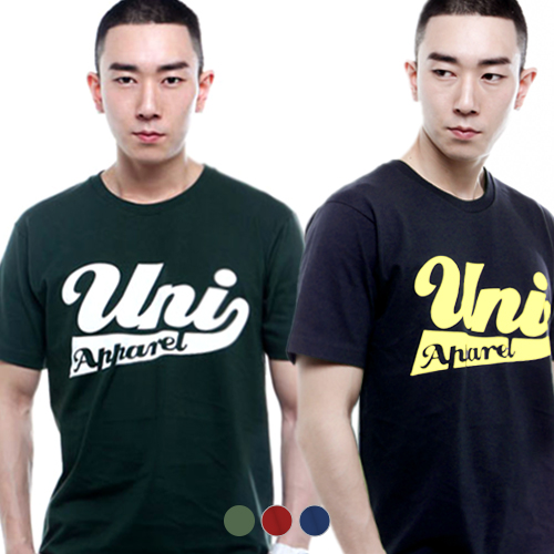 1+1 [유니어패럴] UNIAPPAREL 유니로고 프린트 반팔티 3 Colors
