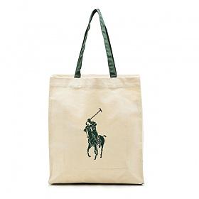 폴로 랄프로렌 에코백 빅포니 숄더백 가방 베이지(그린) Polo Ralphlauren 정품 국내배송