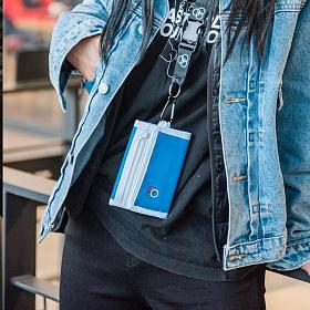 [로아드로아] RETRO MINIME WALLET (BLUE) 지갑 3단지갑