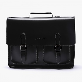[피스메이커]PIECE MAKER - LEATHER SATCHEL BAG LARGE (BLACK)