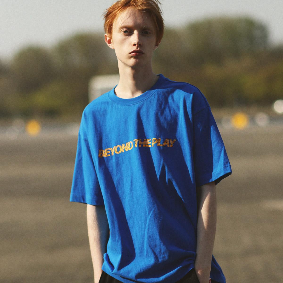 [어반플레이어스]URBANPLAYERS 인디워크 반팔티 PDBST22(BLUE)