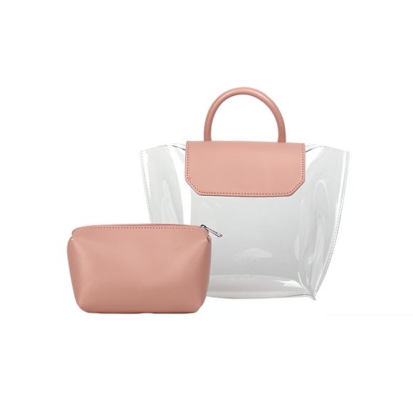 앨리스마샤 - 앨리카(Alika) PVC 투명백 토트백 크로스백 파우치 가방