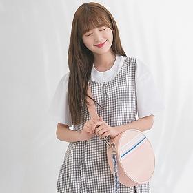 [르마인]LE MINE- LE31 써클백(핑크) 크로스백 탬버린백