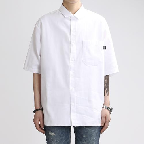 [쟈니웨스트] JHONNYWEST - Cottony Summer Shirts (White) 반팔 셔츠
