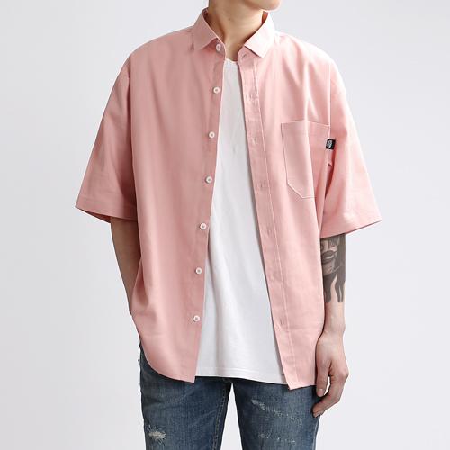 [쟈니웨스트] JHONNYWEST - Cottony Summer Shirts (Pink) 반팔 셔츠
