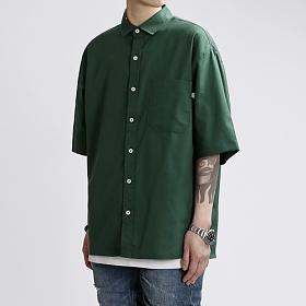 [쟈니웨스트] JHONNYWEST - Cottony Summer Shirts (Green) 반팔 셔츠