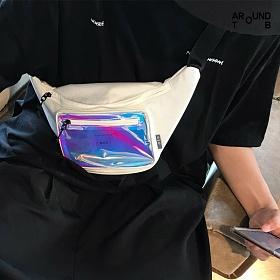 [제옥스]GEOX - TRIP AIR WAISTBAG WHITE 트립 에어 웨이스트백 힙색 화이트