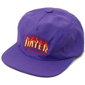 [헤이터] 플레임 로고 스냅백 퍼플 Flame Snapback Purple