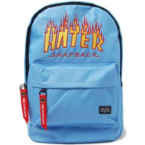 [헤이터] 플레임 로고 백팩 라이트 블루 Flame Backpack Light Blue