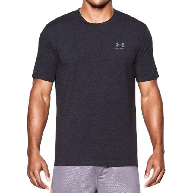 언더아머 로고 반팔 티셔츠(신축성) 1257616 001 차콜 남녀공용 정품 국내배송