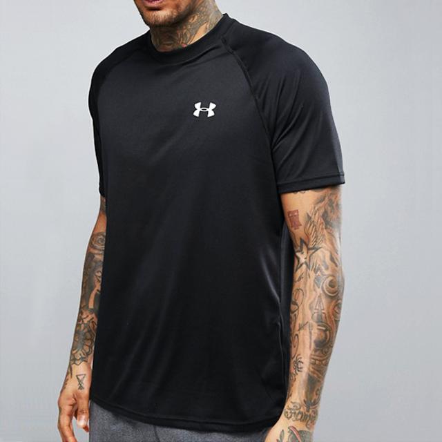 [언더아머] 기능성 로고 반팔 티셔츠 1228539 001 블랙 남녀공용 UnderArmour 정품 국내배송