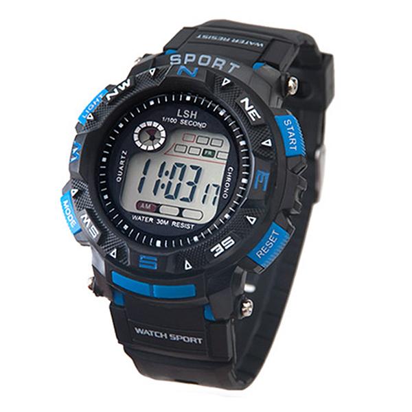 포레스트레이크 [LAKE] ELECTRON WHTCH LAKE-JSM058049 Blue 디지털 시계
