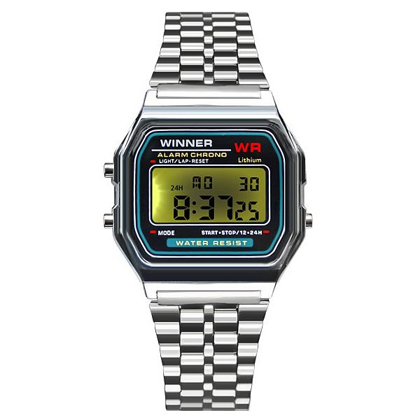 포레스트레이크 [LAKE] ELECTRON WHTCH LAKE-JSM058048 Silver 디지털 시계