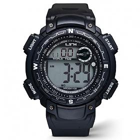 포레스트레이크 [LAKE] ELECTRON WHTCH LAKE-JSM058042 BLACK 디지털 시계