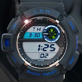 [포레스트레이크][LAKE] ELECTRON WHTCH LAKE-JSM058050 Blue 전자시계