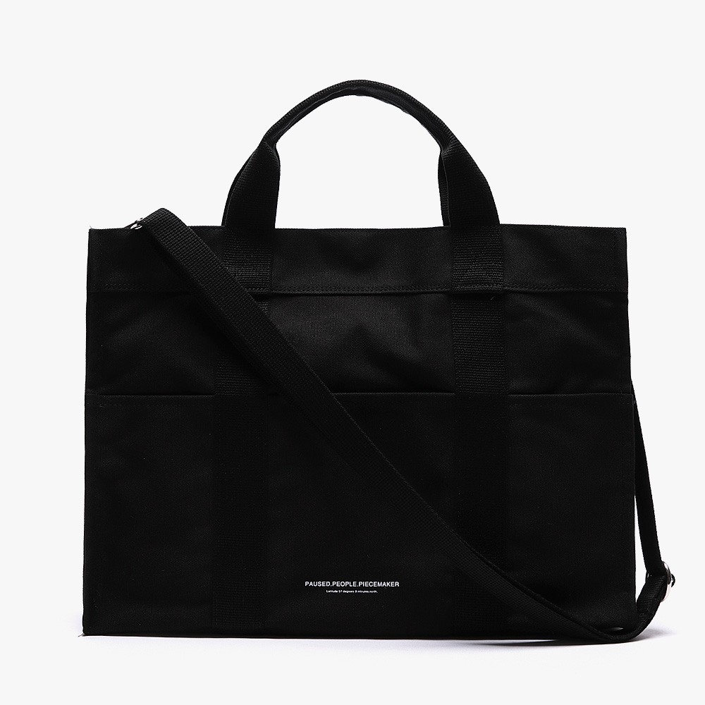 [피스메이커]PIECE MAKER - CANVAS 3WAY POCKET BAG (BLACK)