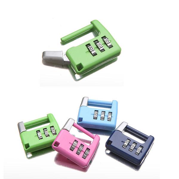 [트래블이지]자물쇠 네모형 (색상랜덤발송) NO.0026